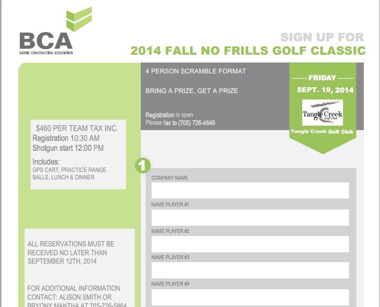 bca golf registration