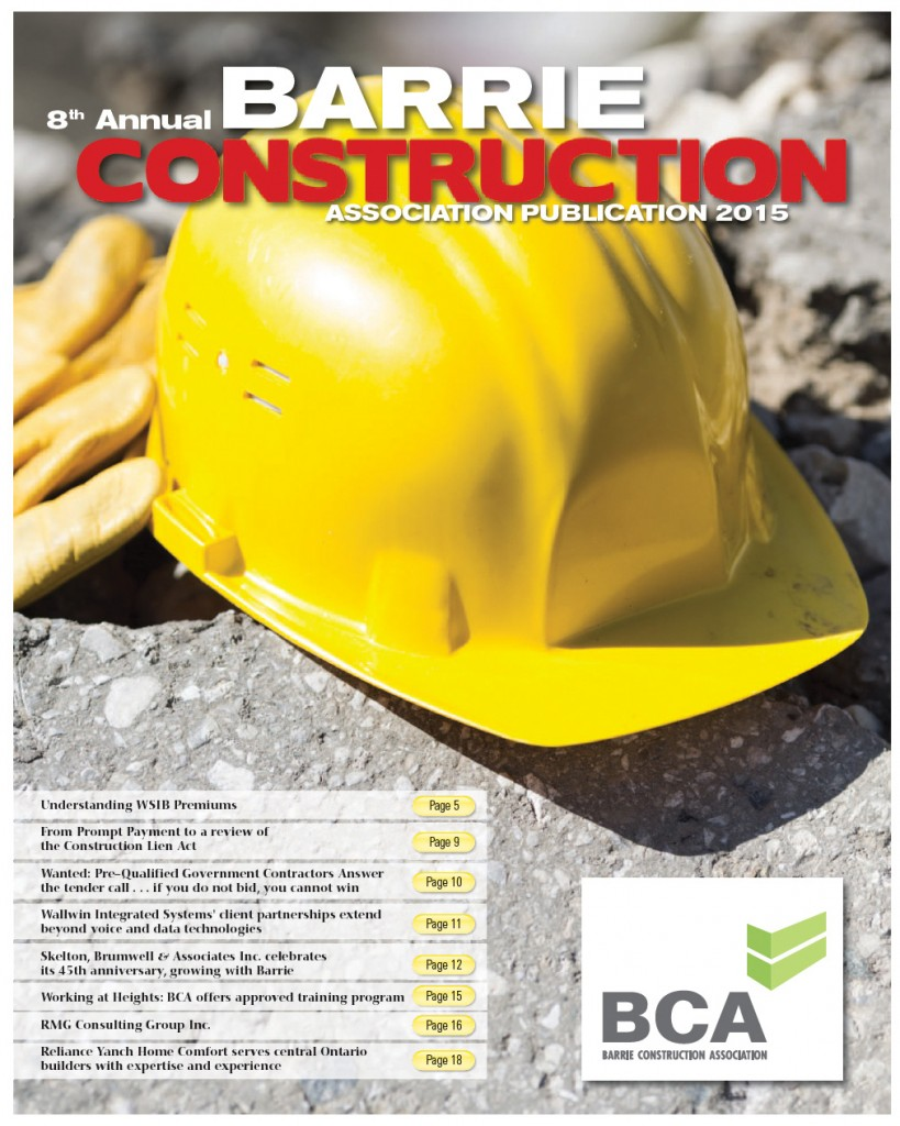The  2015 Barrie Construction Report. You can request a back-issue copy here or subscribe to the GTA/Ontario Construction Report