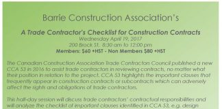 BCA trade contractors