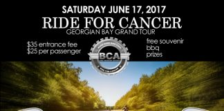 ride for cancer georgian bay