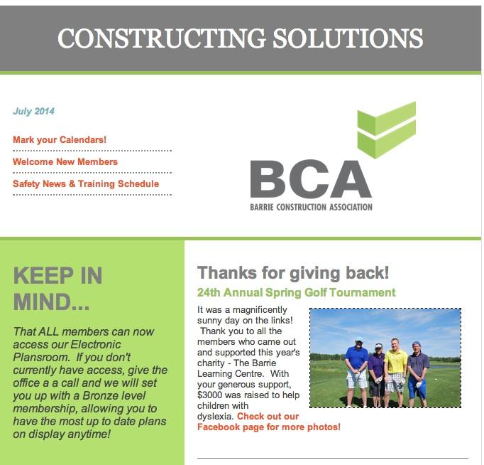 bca newsletter