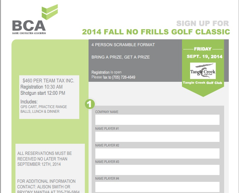 bca golf registration