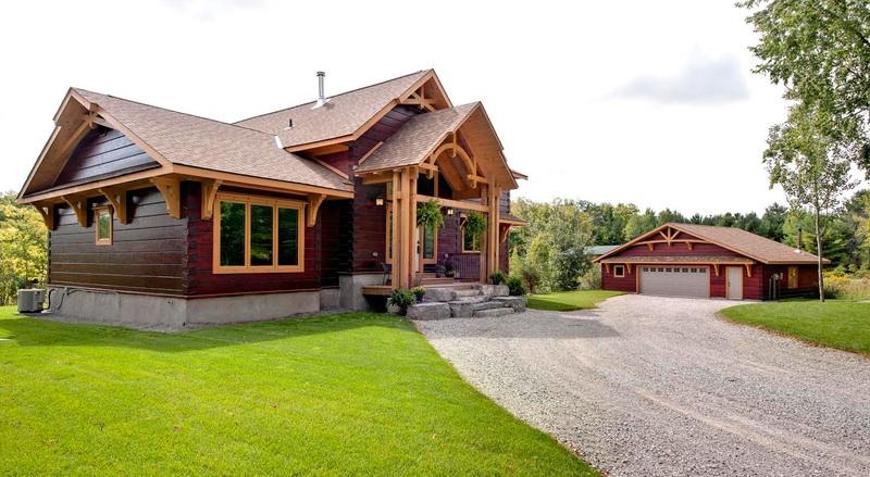 engineered log home