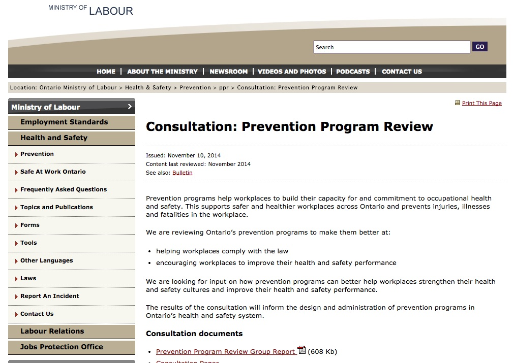 MOL Health and safety consultation