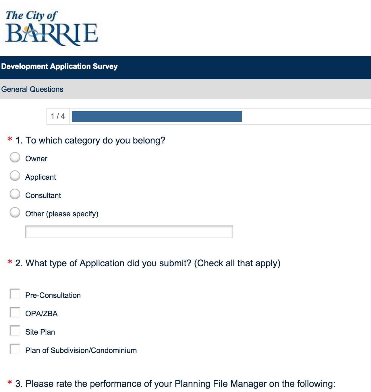 Barrie survey