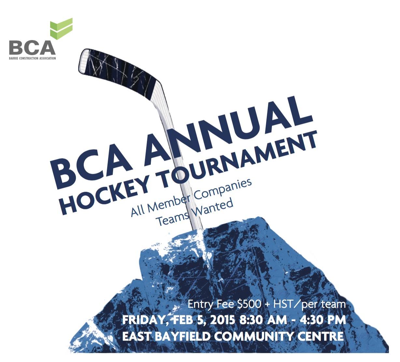 Bca Hockey Tournament Feb 5 Barrie Construction News