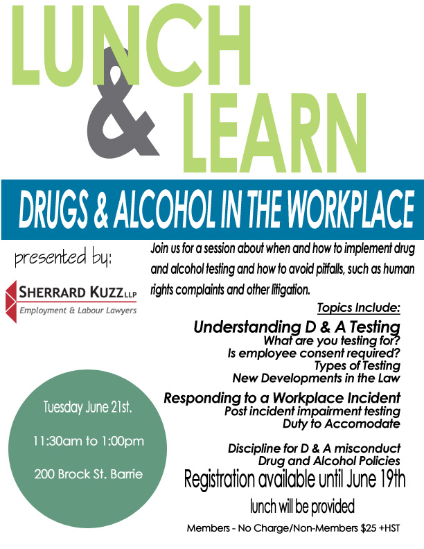 lunch and learn drug alcohol