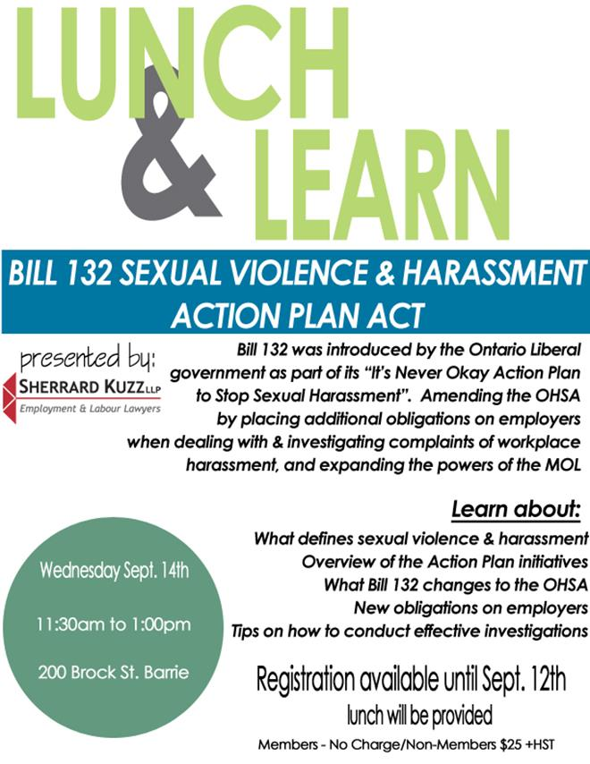 sexual harrassment lunch and learn